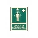 Cartel ducha de emergencia A4